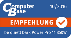 ComputerBase-Empfehlung für be quiet! Dark Power Pro 11 850W