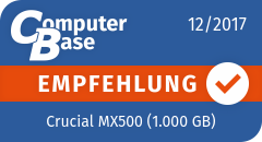 ComputerBase-Empfehlung für Crucial MX500 (1.000 GB)