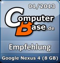ComputerBase-Empfehlung für Google Nexus 4 (8 GB)