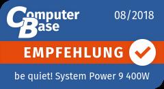 ComputerBase-Empfehlung für be quiet! System Power 9 400W