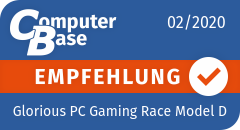 ComputerBase-Empfehlung für Glorious PC Gaming Race Model D (Matte Black)