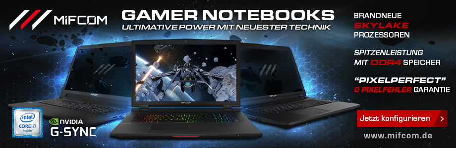 Mifcom Gamer Notebooks